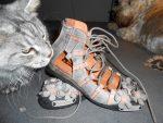 Etnické kožené sandále