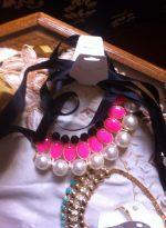 Elegantný stuhový perlový klenot, obojok,  náhrdelník z aliexpress