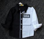 detska košeľa čierno-biela