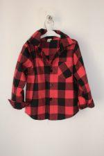 detska košeľa čierno-červené kocky