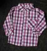 detska košeľa kockovaná